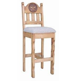 Star Barstool With Padded Seat