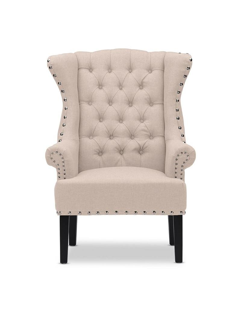 Knuckey French Country Beige Linen Armchair TSF 8132 CC ...