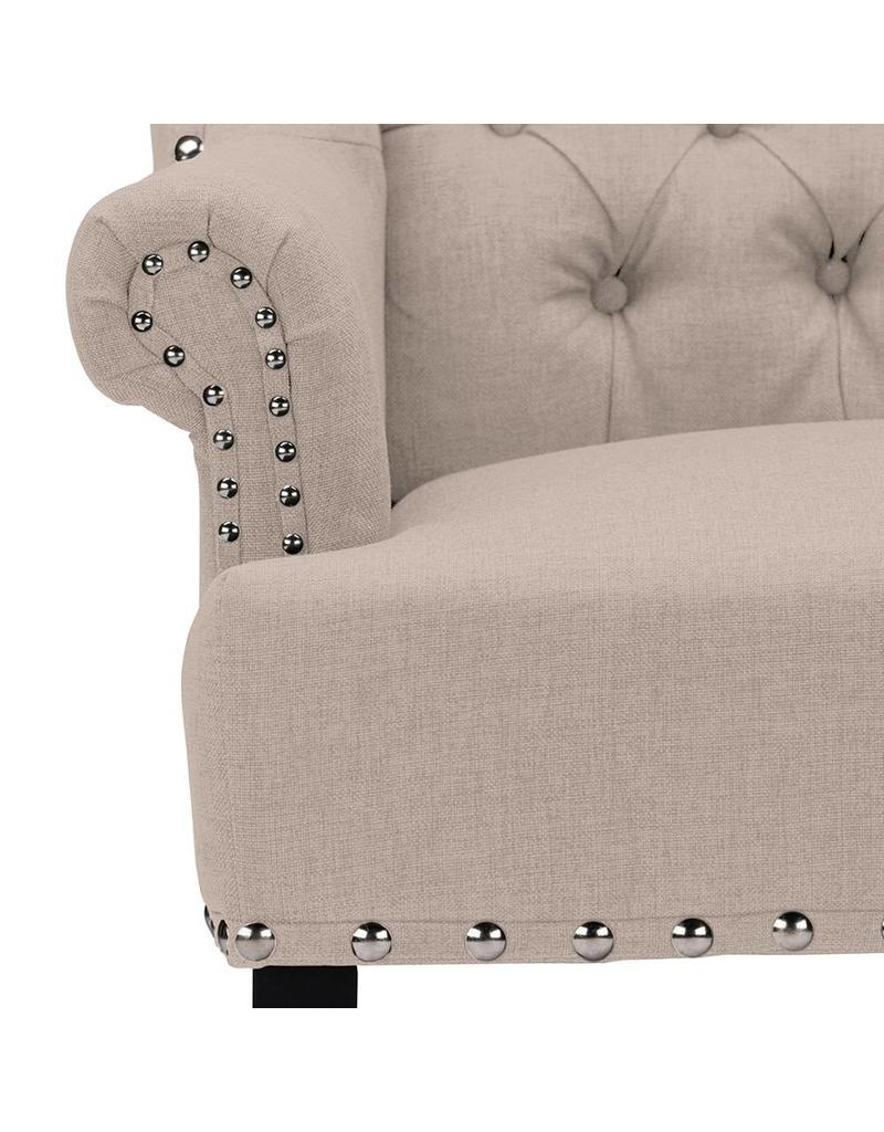 ... Knuckey French Country Beige Linen Armchair TSF 8132 CC ...