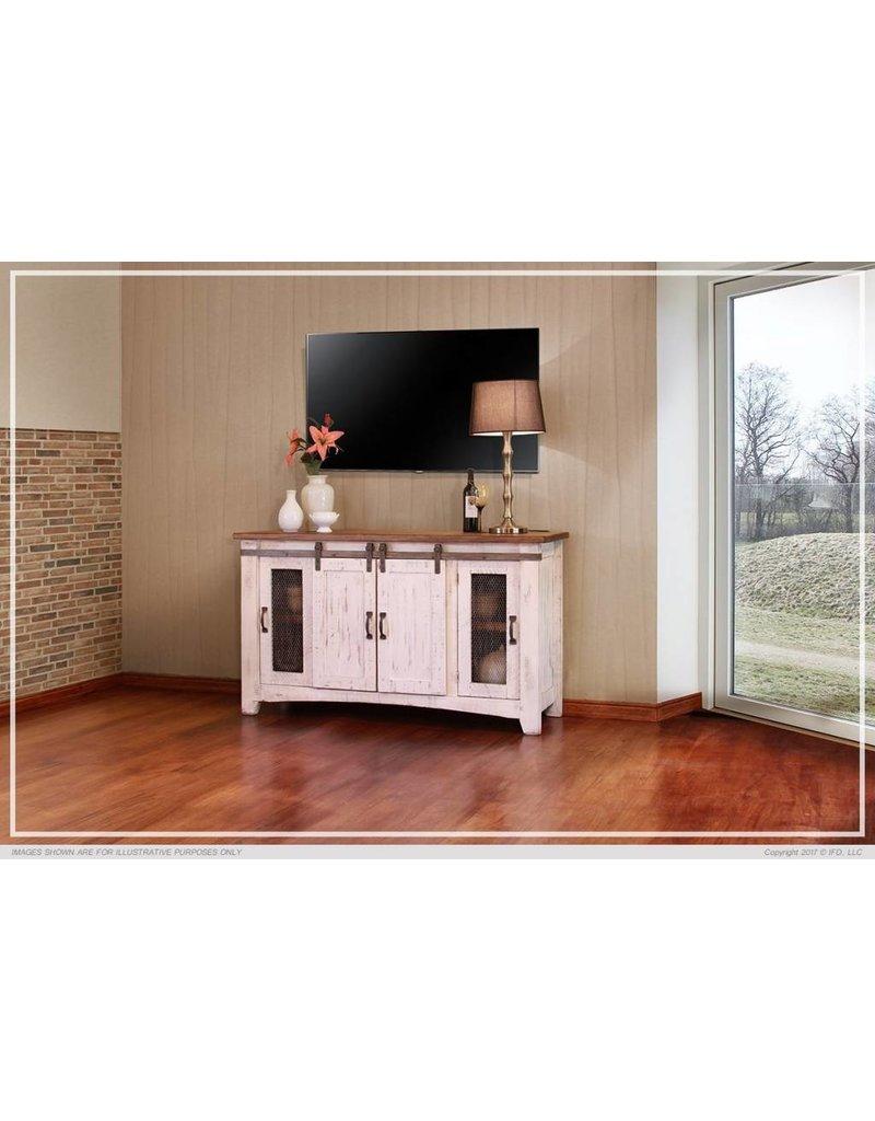 Pueblo White TV Stand 60 Inch