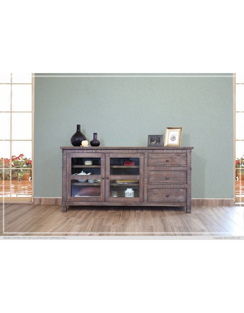 San Angelo TV Stand 60 Inch Dirt Road Rustics