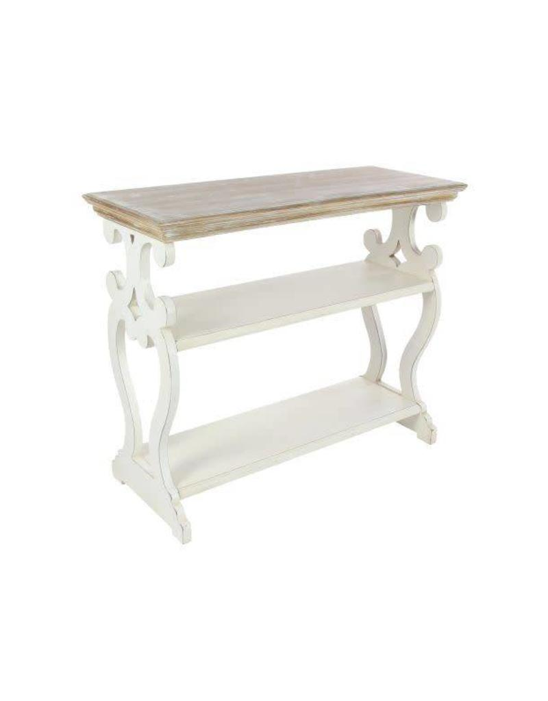 white wood console table chrome console carved white wood console table 44457 dirt road rustics