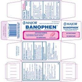 OTC Banophen Diphenhydramine Antihistamine 25mg (Benadryl) 100 ct