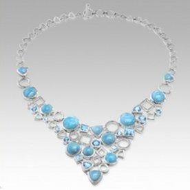 ALEXANDRIA NL, BLUE TOPAZ, WHITE SAPPHIRE