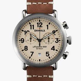 Shinola Runwell Chrono 41mm, Brown Leather Strap