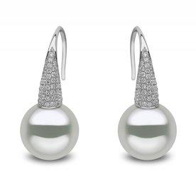 11MM Diamond Pearl Earring