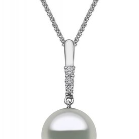 Diamond Drop Pearl Necklace