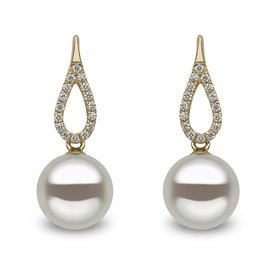 Pearl Diamond Earrings