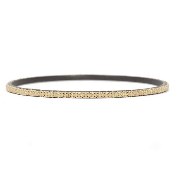 Armenta BRACELET Size 65 Old World MN bangle with carved yellow-gold scalloped border.