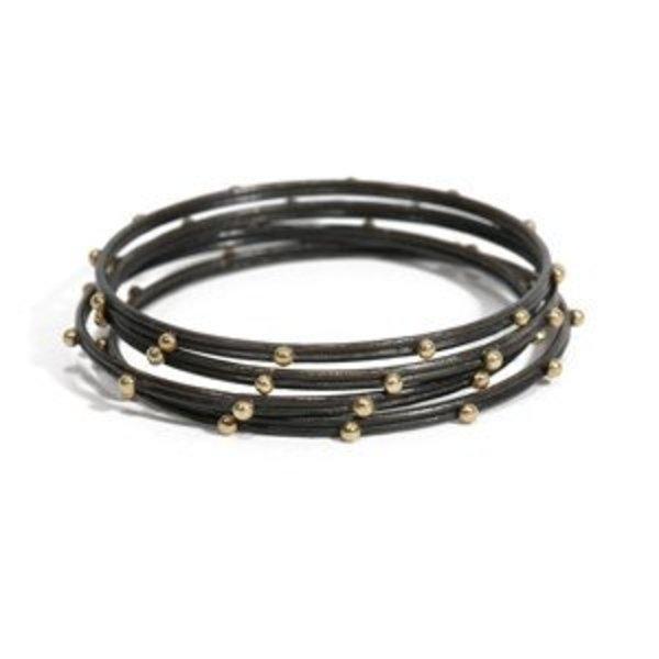 Armenta Bracelet Size small MN bangle w/ gold granulation.
