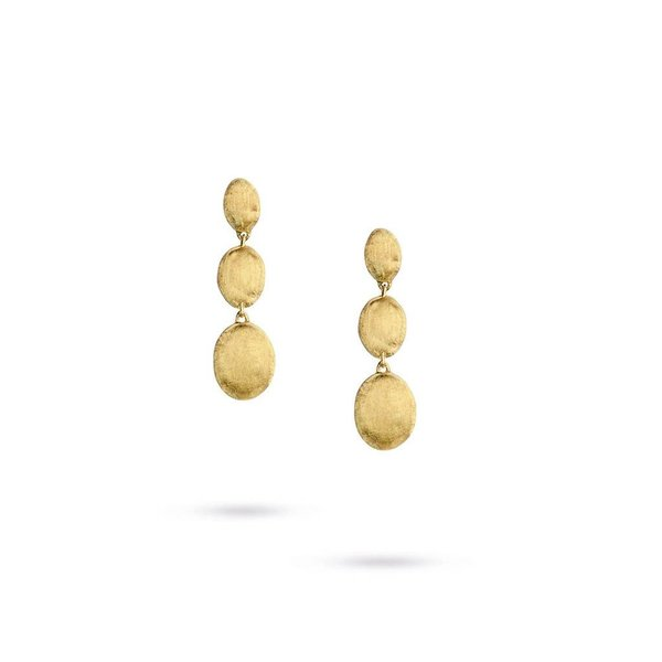 MARCO BICEGO 18k hand engraved yellow gold earrings