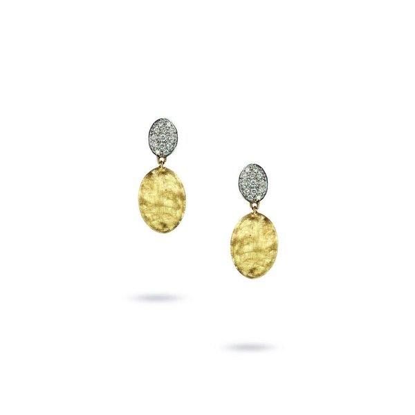 MARCO BICEGO 18K Yellow Gold & Diamond Pave Drop Earrings
