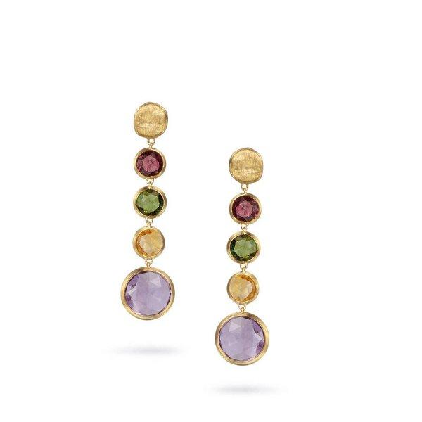 MARCO BICEGO 18K Yellow Gold & Circle Mixed Gemstones Drop Earrings