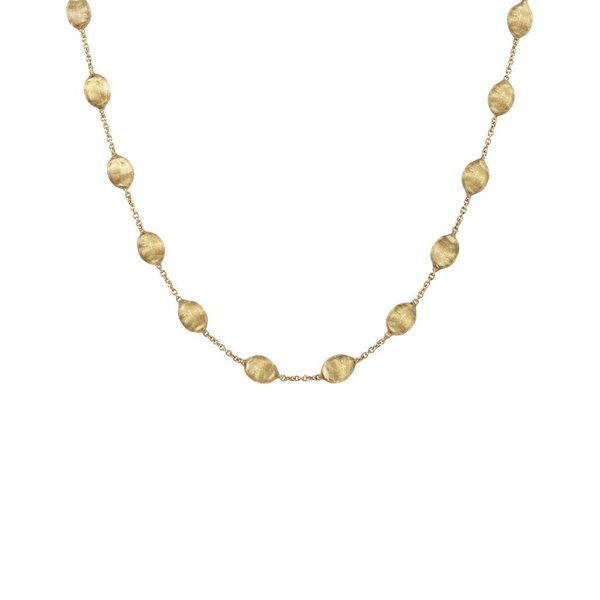 MARCO BICEGO 18k hand engraved yellow gold necklace.