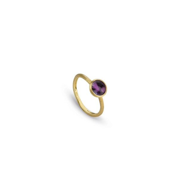 MARCO BICEGO 18K Yellow Gold & Rose Cut Cushion Amethyst Stackable Ring