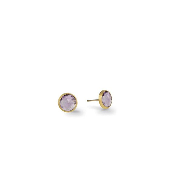 MARCO BICEGO 18K Yellow Gold & Amethyst Petite Stud Earrings