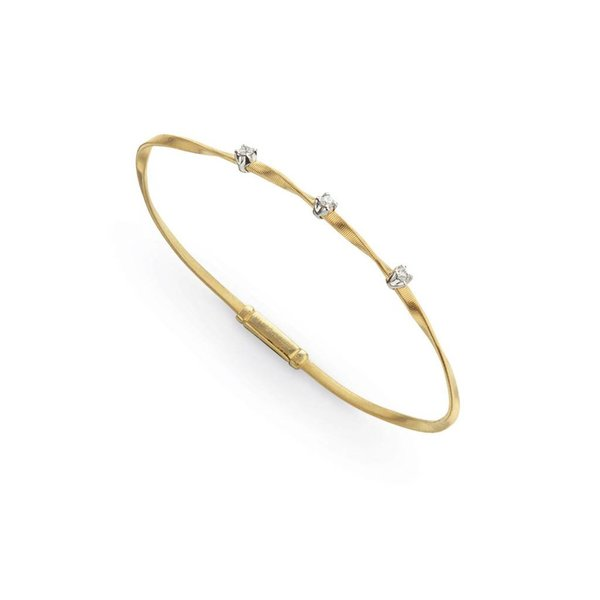 MARCO BICEGO 18K Yellow Gold & Diamond Stackable Bangle