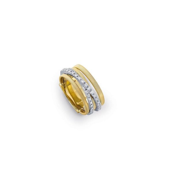 MARCO BICEGO 18k handmade yellow gold ring with 0.26 carats of brilliant cut diamonds