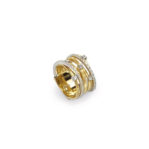 MARCO BICEGO 18k handmade yellow gold ring with 0.41 carats of brilliant cut diamonds