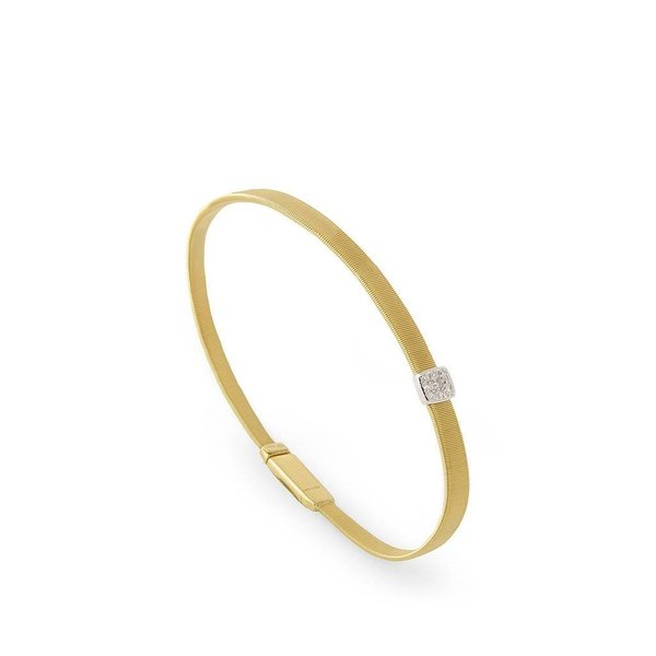 MARCO BICEGO 18K Single Station Diamond Bracelet in Yellow Gold