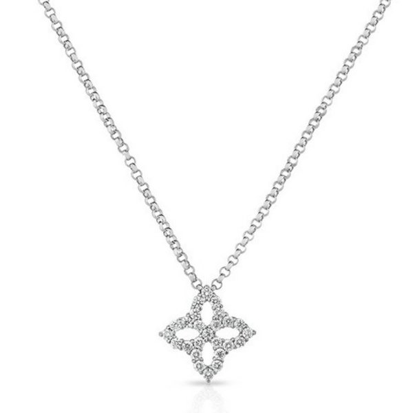 18KT White Gold Diamond Princess Necklace