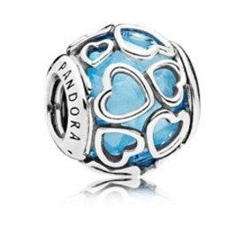 Pandora Encased in Love, Sky Blue Charm