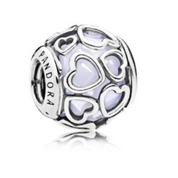 Pandora 792036NOW Heart Charm Opal
