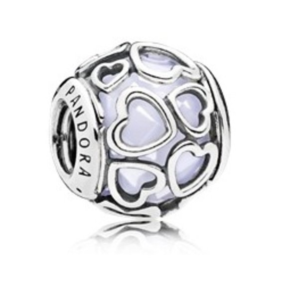 Pandora Encased in Love, Opal Charm