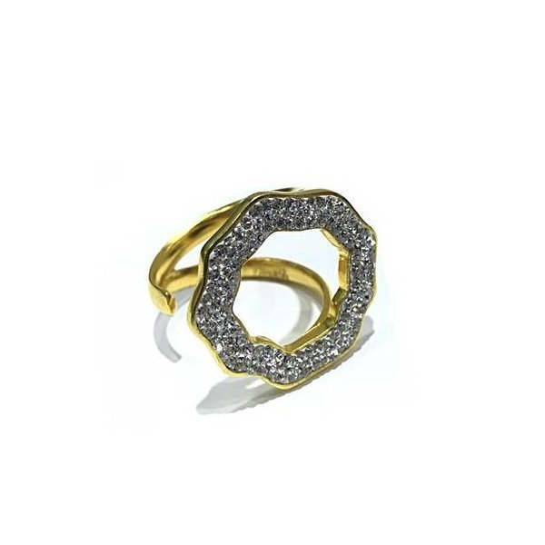 Crystal Open Round Ring
