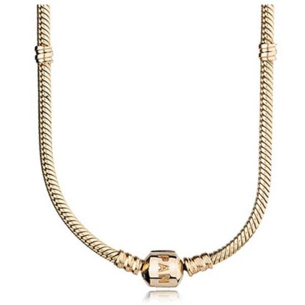 Pandora Gold Signature Necklace, 45cm