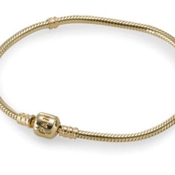 Pandora Gold Signature Bracelet, Size 21