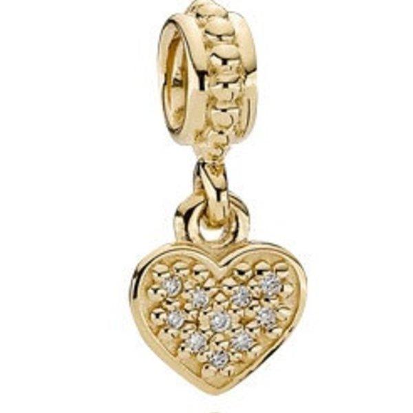 Pandora Pave Brilliant Heart Charm