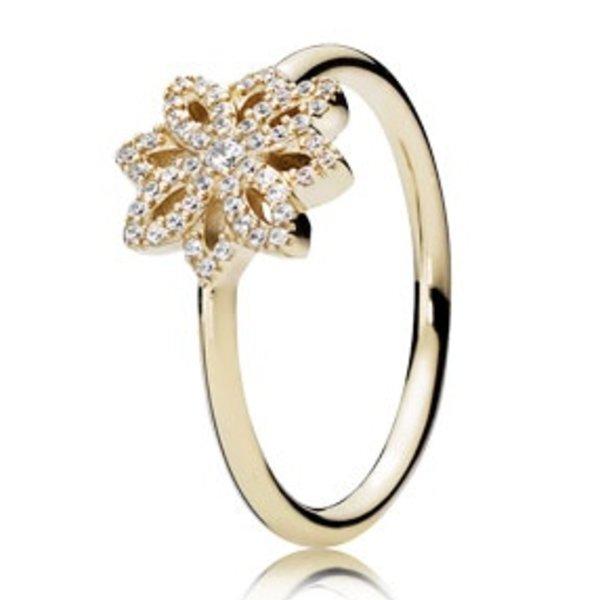 Pandora Lace Botanique Gold Ring, Size 4.5
