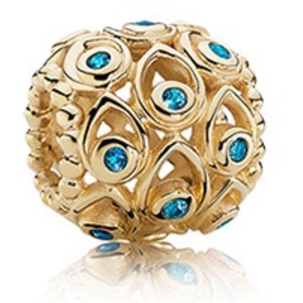 Pandora Ocean Treasures, Deep-Blue Treated Topaz