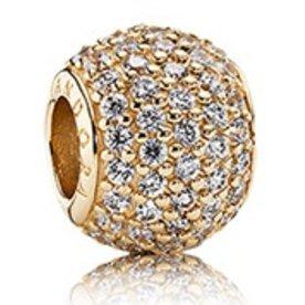 Pandora Pave Lights, Gold Charm