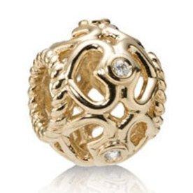 Pandora Open Heart Gold Charm