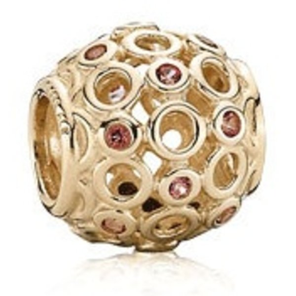 Pandora Celtic Circles, Pink Treated Topaz