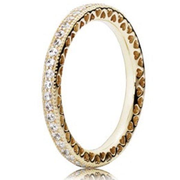 Pandora Hearts of Pandora Gold Ring, Size 9