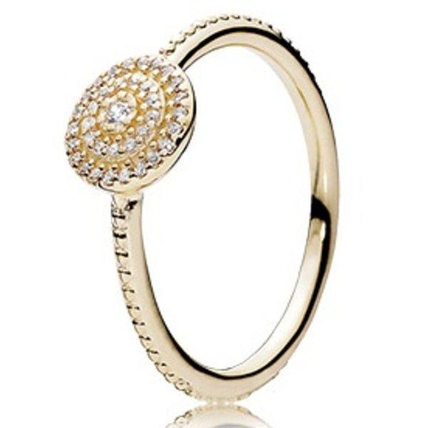 Pandora Radiant Elegance Gold Ring, Size 7.5