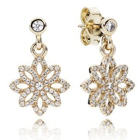 Pandora Lace Botanique Drop Earrings