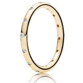 Pandora Droplets Gold Ring, Size 7.5