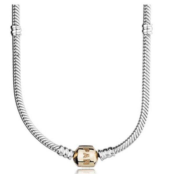 Pandora Sterling Silver w/ 14K Gold Clasp, 50 cm / 19.7 in