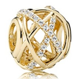 Pandora Galaxy Gold Charm