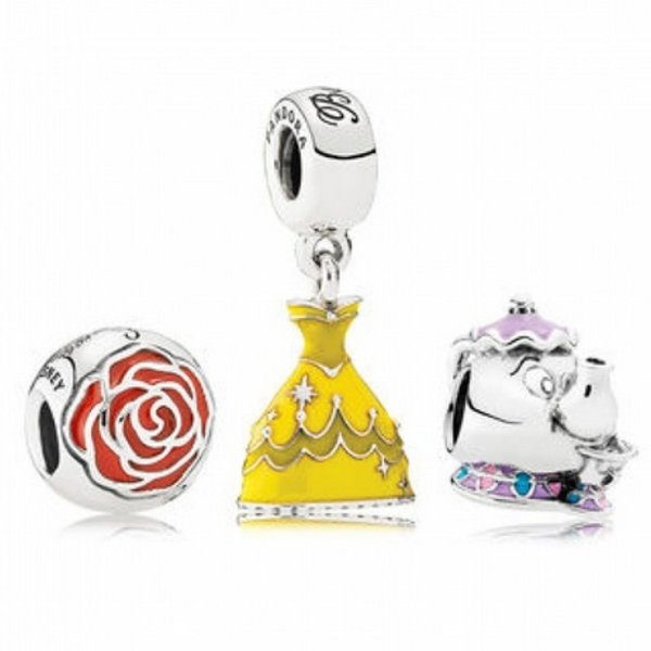 Pandora Disney Beauty and the Beast Charm Gift Set