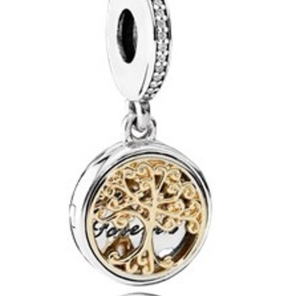 """Pandora Family Roots  """"Family Forever"""" Charm"""