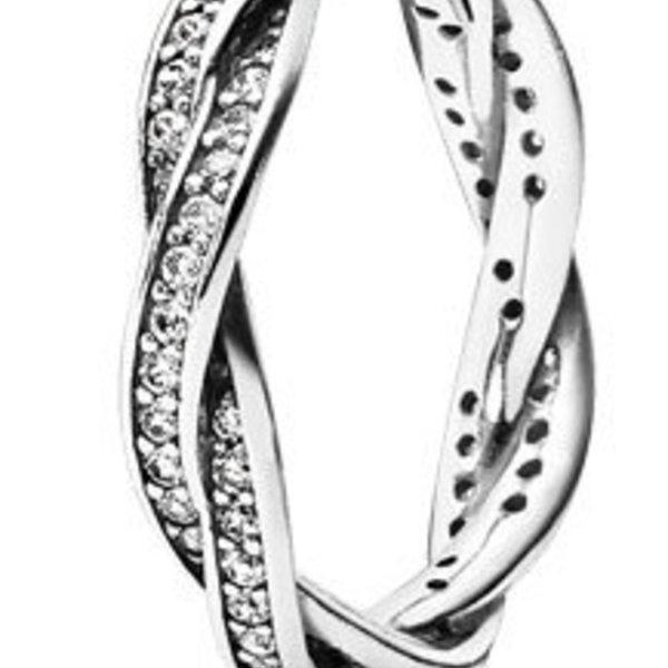 Pandora Twist of Fate Ring, Size 7