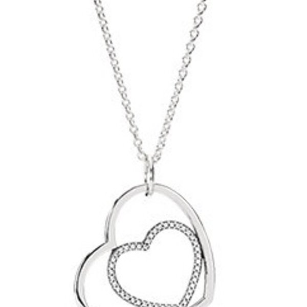 Pandora Heart to Heart, Clear CZ, 90 cm / 35.4 in