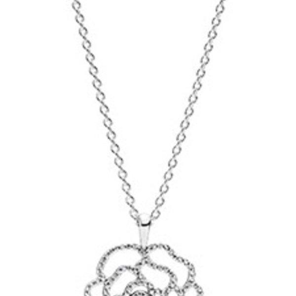 Pandora Shimmering Rose necklace