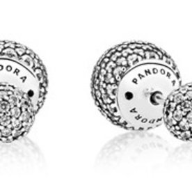 Pandora Pave Duet Drops Earrings