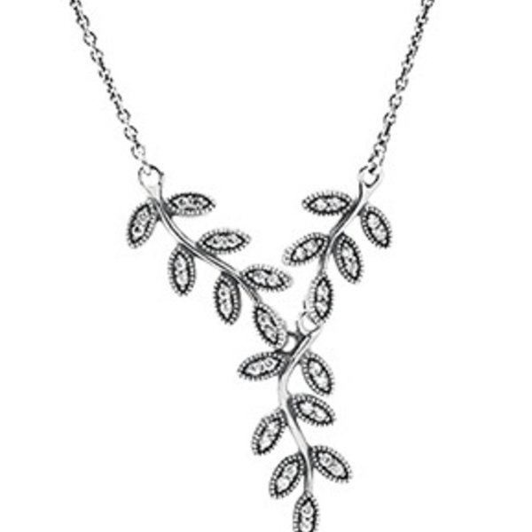 Pandora Sparkling Leaves, Clear CZ, 45 cm / 17.7 in
